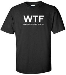 Food T Shirts Australia - WTF WHERE'S THE FOOD T-SHIRT FUNNY HUMOR COLLEGE EATING BLACK TEE SHIRT