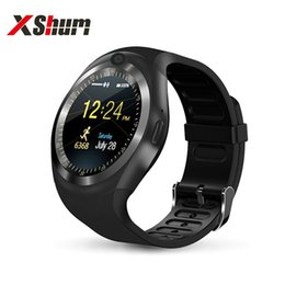 Wholesale XShum Y1 Smart Watches Phone Smartwatch Android IOS Type On Wrist sim card smartphone network g sim cord Smart Wacht