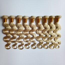 $enCountryForm.capitalKeyWord Australia - Blond Malaysian Brazilian virgin Human Hair extensions #613 Body wave 8-26inch Fashion lady popular 3 4 5pcs Indian European remy Hair