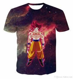 galaxy clothes shorts 2019 - Newest Galaxy Space Anime Dragon Ball Z Goku 3d t shirts Fashion Summer Men Boy Super Saiyan Tee Tops Clothes cheap gala