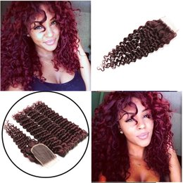 $enCountryForm.capitalKeyWord Australia - wine red deep wave 3 bundles with lace closure 8a grade virgin hair deep curly closure with human hair extension cheapest wholesale vendor