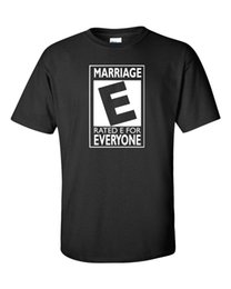Blue Shirt For Wedding Australia - MARRIAGE Rated E for Everyone Wedding Marry Happy Funny Men's Tee Shirt 974 2018 New Fashion T shirt Brand Hip Hop Print Men Tee
