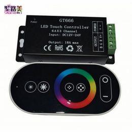 Wireless Touch Rgb Controller Australia - DC12V-24V 6Ax3channel 18A RF Wireless Touch RGB controller GT666 Touch Panel RGB led controller dimmer for led strip light tape