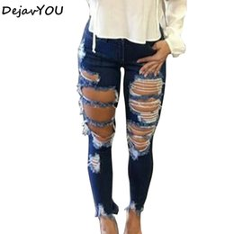$enCountryForm.capitalKeyWord Canada - New 2018 Skinny Jeans Women Denim Hole Pants Destroyed Knee Pencil Pants Casual Trousers Jeans Stretch Ripped Jeans