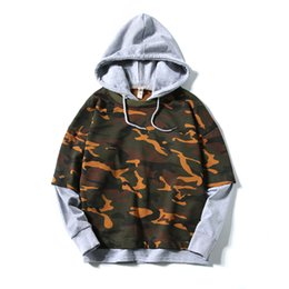 mens matching clothes UK - mens camouflage Wei clothes in autumn and winter, the Korean version of the leisure large size color matching even hoodie clothes