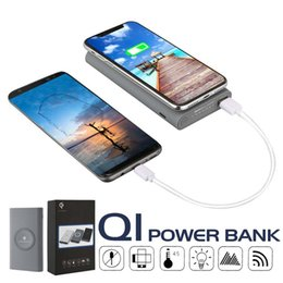 Iphone wIreless battery online shopping - 10000mAH Wireless Charger Powerbank Phone Charger Portable External Battery Power Bank For iPhone Samsung Huawei with Retail Box