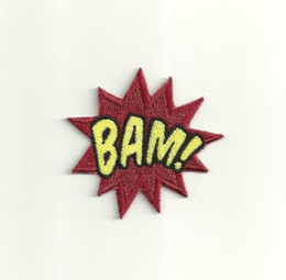 Punk Motorcycle Jacket Australia - Super Hero Bam Patch Embroidered Motorcycle Applique Badge Embroidery Patch Biker Punk Parch on Clothing for Jacket Backpack
