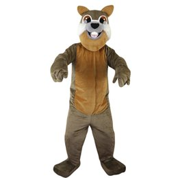 Chinese  2018 New high quality Gray squirrel Mascot costumes for adults circus christmas Halloween Outfit Fancy Dress Suit Free Shipping011 manufacturers