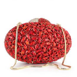 $enCountryForm.capitalKeyWord Canada - Diamond Bag Luxury Oval Shape Daisy Clutch Purse Box Crystal Clutch Evening Bag Women Handbag(8712A-G)