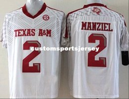 47d554f92 Cheap custom Texas A&M Aggies Johnny Manziel #2 College White Football  Jersey Stitched XS-3XL