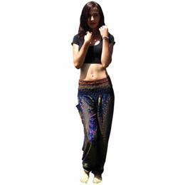 Harem Yoga Pants UK - Men Women Harem Trousers Festival Hippy Smock High Waist Yoga Pants Loose Comfortable Sports Gym Cotton Yoga Pants Summer