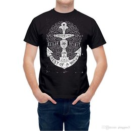 Anchor t shirts online shopping - T shirt Nautical Sailer Ship Anchor Printed T Shirt Men Cotton T Shirt New Style Funny Tops Tee Casual O Neck Men Lastest