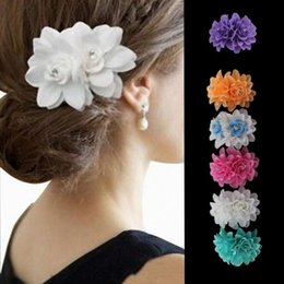 76a896c91 Red Rose floweR haiR clips online shopping - New Arrivals Fashion Lady  Womens Girl Rose Flower