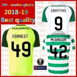 4e1a41b05 Celts Soccer Jerseys 2018 2019 Europa League Home away third LUSTIG  GRIFFITHS SINCLAIR BITTON BROWN Ceiltigh Ghlaschú Football uniform 3rd
