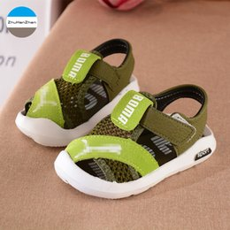 Wholesale 2018 Good quality summer baby sandals breathable boys and girls sports shoes newborn soft bottom shoes infant first walk