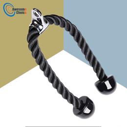 $enCountryForm.capitalKeyWord Canada - Heavy Duty Tricep Rope Abdominal Crunches Cable Pull Down Laterals Biceps Muscle Training Fitness Body Building Gym Pull Rope