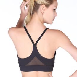 ce1114c2f5142 Women Yoga Bra Plus Size Patchwork Sports Bra Gym Cross Backless Yoga  Padded Mujer Strappy Cropped Top Fitness