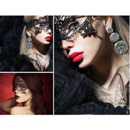 masked costumes for women NZ - Women Masque Sexy Lady Lace Mask Cutout Eye Mask For Masquerade Party Carnival Hollow Fancy Dress Costume Cosplay Mask