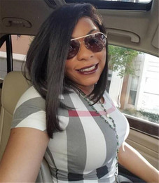 Hair Brazilian Wig Australia - Glueless Silky Straight Full Lace Wig Brazilian Human Hair Wig Silky Straight Lace Front Wig For Black Women