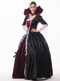 movie vampire costumes Canada - Halloween costume vampire witch zombie dress queen dress Queen empress cosplay European and American game service