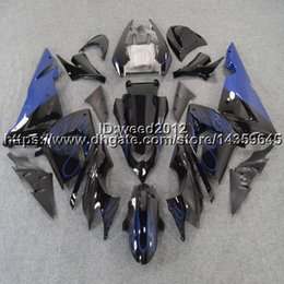 $enCountryForm.capitalKeyWord Australia - 23colors+5Gifts blue flames motorcycle ABS article body kit for KAWASAKI Ninja ZX10R 2004 2005 ZX-10R fairing