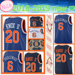 new 2018-2019 Men s Adult New York 6 Kristaps Porzingis 20 Kevin Knox II  Jersey Embroidery Logos Stitched Basketball Jerseys Top quality fb3ecf942