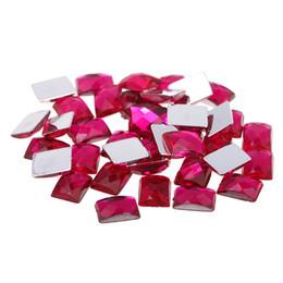 Rose color Craft Art DIY Rhinestones 6x8mm Retangle Gems Flatback Earth  Facets Acrylic Rhinestone Strass High Shine Nail Art Stones 0545d86642f0