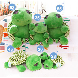 big plush turtles NZ - 20cm Stuffed Plush Animals Green Big Eyes Turtle Baby Kid Stuffed Tortoise Plush Toy Gift 10pcs wholesale