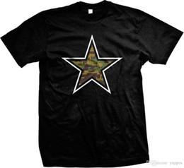 Toptan satış Kaya Ağır Metal Tarzı SATıŞı ABD Ordusu Beş Nokta Yıldız Gurur Amerikan Patriot Hediye T-shirt Adam T Gömlek Yuvarlak Yaka Tees