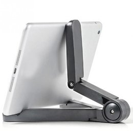 """tablet phone foldable holder 2019 - Top Quality Portable Adjustable Foldable Tablet PC Stands Holder for 7""""-10"""" Tablet PC   moblie phone and Holde"""