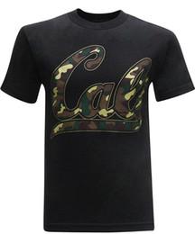 Опт Цвет смешно печатных случайные короткие О-образным вырезом мужские Калифорния Республика Кали Camo мужская футболка Футболки