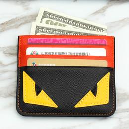Credit Card Clips online shopping - Designer Card Holder credit card holder leather Spoof Small Monster Clip Bank Bag mens card holder Super slim wallet styles