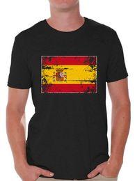 0de21c12 Fashion Men Tshirt Spain Flag Shirts For Men Spain T Shirt From Spain Gifts  For Him O Neck T Shirt