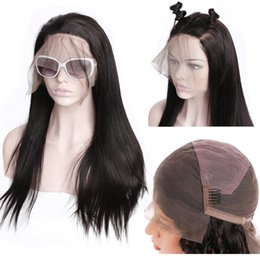 Women Human Hair Full Lace Wigs Australia - Pre Plucked Full Lace Human Hair Wigs For Black Women 150 Density Full Lace Wigs With Baby Hair Straight Lace Front Human Hair Wigs HCDIVA