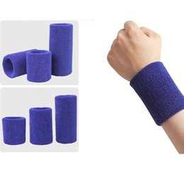 tennis wrist support sweatband NZ - 1PCs Professional Fitness Wristbands Sport Sweatband Hand Band Sweat Wrist Support Brace Wraps Tennis Badminton Basketball Guard