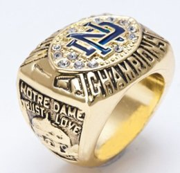 University Rings UK - Newest Men fashion jewelry 1988 University of Notre Dame championship ring alloy sports fans collection souvenirs Christmas boyfriend gift