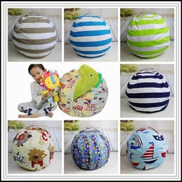 chair cushion cartoon 2019 - 9 Colors Beanbag Chair Plush Toys Storage Bean Bags Kids Bedroom Play Mats Portable Couch Cushion Creative Clothes Stora