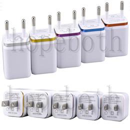 Discount iphone power dock - wall charger usb travel EU US plug metal dual port single port AC wall charger USB power adapter travel charge dock