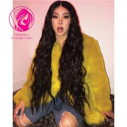"$enCountryForm.capitalKeyWord NZ - Natural Black Lace Front Human Hair Wigs Brazilian Remy Hair Natural Wavy Lace Front Wig with Baby Hair 24""26""28""inches"