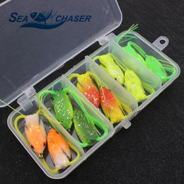 $enCountryForm.capitalKeyWord NZ - 2018 NEW 10pcs 5 colors Very small Topwater Frog Hollow Body Soft Fishing Lures Bass Hooks Baits Tackle Set and Tackle Box