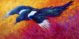Giclee Art Canada - Y J ART Giclee Animal magpie-in-flight oil painting arts and canvas wall decoration art Oil Painting on Canvas 40X80cm MRR164