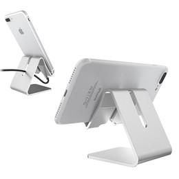 Tablets Zte NZ - Desktop Mobile Phone bracket Non-slip Holder Luxury Aluminum Metal Stand For iPhone iPad Mini Samsung ZTE Smartphone Tablet with Retail box