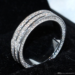 $enCountryForm.capitalKeyWord Australia - 2018 New Arrival Stunning Luxury Jewelry Victoria 925 Sterling Silver Pave Setting White Sapphire CZ Diamond Women Wedding Band Ring Gift