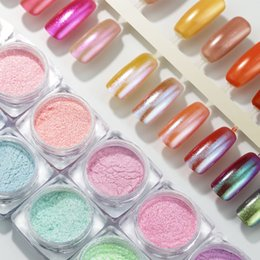 Shining Dust Glitter Australia - COSCELIA Shining Nail Glitter Pearl Powder Nail Mirror Powder For Pigment Gradient Glimmer Dust Art Decorations