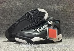 Canvas Shoes Best Price NZ - Arrival 4s Military Motosports blue l 4 Blacktech Grey-Black Men and Women Basketball Shoes Best Real Leather Hot est Discount Price