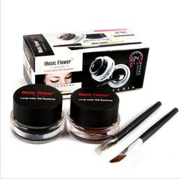 $enCountryForm.capitalKeyWord UK - Music Flower Black + Brown Two-color Gel Eyeliner Smudge- Proof & Water Proof Eye Liner Eye Liner Eyeliner Gel Makeup Cosmetic + Brush