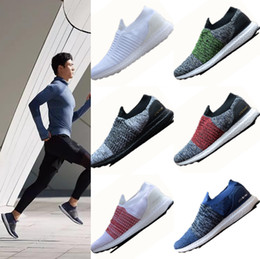 flat bottomed white sneakers 2018 - 2018 Top Fashion New Boost Bottom Soft Knit Vamp Ventilation Socks Women Men Running Shoes Uncaged UB Laceless Cushionin