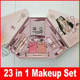 Blush lipstick palettes online shopping - 23 in Makeup Set Lip Gloss eyeliner mascara Matte blush palette Listick Liquid Lipstick bronze eyeshadow in1 make up Set
