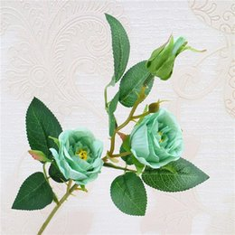 $enCountryForm.capitalKeyWord Australia - European Fake Single Stem Rose (3 heads piece) Simulation Oil Painting Roses for Wedding Home Showcase Decorative Artificial Flowers
