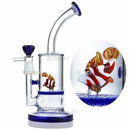 China Glass Bong Water Pipes mini Animal honeycomb perc cute Octopus Colorful bongs oil rigs dab rig heady beaker pipe bowl dome Elephant fish suppliers